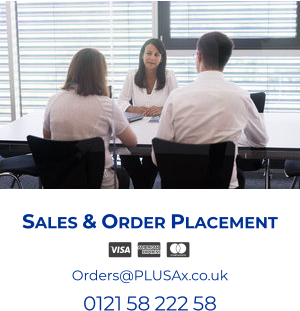 Sales & Order Placement  Orders@PLUSAx.co.uk 0121 58 222 58