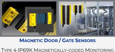 Magnetic Door / Gate Sensors Type 4 IP69K Magnetically-coded Monitoring