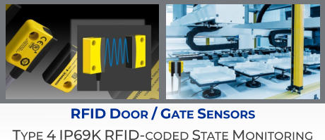 RFID Door / Gate Sensors Type 4 IP69K RFID-coded State Monitoring