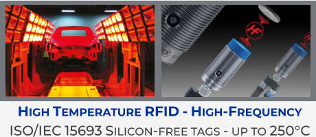 High Temperature RFID - High-Frequency ISO/IEC 15693 Silicon-free tags - up to 250°C