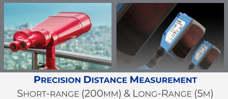 Precision Distance Measurement Short-range (200mm) & Long-Range (5m)