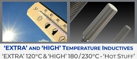 'Extra' and 'High' Temperature Inductives  'Extra' 120°C & 'High' 180 / 230°C - 'Hot Stuff'