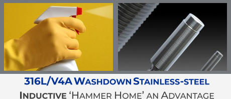 316L/V4A Washdown Stainless-steel Inductive 'Hammer Home' an Advantage
