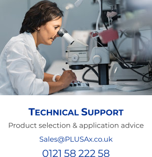 Technical Support Product selection & application advice Sales@PLUSAx.co.uk 0121 58 222 58